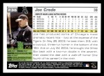 2005 Topps #235  Joe Crede  Back Thumbnail