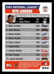 2005 Topps #344   -  Juan Pierre / Mark Loretta / Jack Wilson Leaders Back Thumbnail