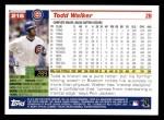 2005 Topps #215  Todd Walker  Back Thumbnail