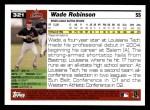2005 Topps #321  Wade Robinson  Back Thumbnail