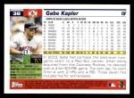 2005 Topps #38  Gabe Kapler  Back Thumbnail