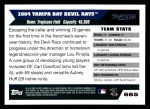 2005 Topps #665   Tampa Bay Devil Rays Team Back Thumbnail
