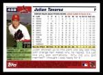 2005 Topps #458  Julian Tavarez  Back Thumbnail