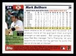 2005 Topps #24  Mark Bellhorn  Back Thumbnail