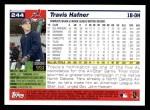 2005 Topps #244  Travis Hafner  Back Thumbnail