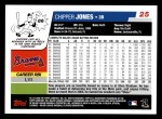 2006 Topps #25  Chipper Jones  Back Thumbnail