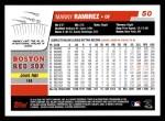 2006 Topps #50  Manny Ramirez  Back Thumbnail