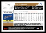 2006 Topps #70  Carlos Lee  Back Thumbnail
