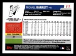 2006 Topps #11  Michael Barrett  Back Thumbnail