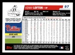 2006 Topps #97  Kenny Lofton  Back Thumbnail