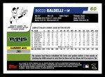 2006 Topps #60  Rocco Baldelli  Back Thumbnail
