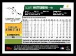 2006 Topps #4  Scott Hatteberg  Back Thumbnail