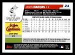 2006 Topps #24  Jason Marquis  Back Thumbnail