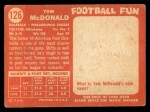 1958 Topps #126  Tom McDonald  Back Thumbnail