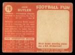 1958 Topps #76  Jack Butler  Back Thumbnail