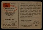 1954 Bowman #125  Whizzer White  Back Thumbnail