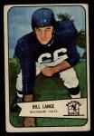 1954 Bowman #62  Bill Lange  Front Thumbnail