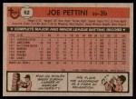 1981 Topps #62  Joe Pettini  Back Thumbnail