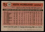 1981 Topps #131  Keith Moreland  Back Thumbnail