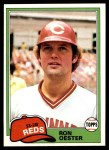 1981 Topps #21  Ron Oester  Front Thumbnail