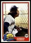 1981 Topps #135  Gorman Thomas  Front Thumbnail
