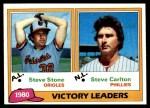 1981 Topps #5   -  Steve Carlton / Steve Stone Wins Leaders Front Thumbnail