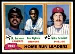 1981 Topps #2   -  Mike Schmidt / Reggie Jackson / Ben Oglivie HR Leaders Front Thumbnail
