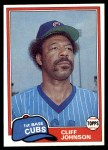 1981 Topps #17  Cliff Johnson  Front Thumbnail
