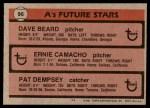 1981 Topps #96   -  Pat Dempsey  /  Dave Beard  /  Ernie Camacho A's Back Thumbnail
