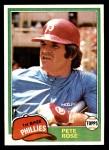 1981 Topps #180  Pete Rose  Front Thumbnail