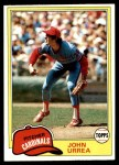 1981 Topps #152  John Urrea  Front Thumbnail