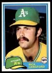 1981 Topps #154  Rick Langford  Front Thumbnail