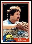 1981 Topps #156  Bob McClure  Front Thumbnail