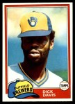 1981 Topps #183  Dick Davis  Front Thumbnail