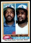 1981 Topps #204   -  Rodney Scott  /  Ron LeFlore Record Breaker Front Thumbnail