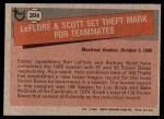 1981 Topps #204   -  Rodney Scott  /  Ron LeFlore Record Breaker Back Thumbnail