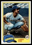 1981 Topps #249  Larry Cox  Front Thumbnail