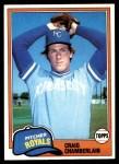 1981 Topps #274  Craig Chamberlain  Front Thumbnail