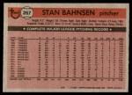 1981 Topps #267  Stan Bahnsen  Back Thumbnail