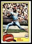 1981 Topps #348  Bob Sykes  Front Thumbnail