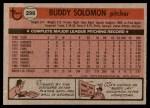 1981 Topps #298  Buddy Solomon  Back Thumbnail