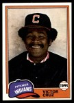 1981 Topps #252  Victor Cruz  Front Thumbnail