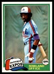 1981 Topps #319  Rowland Office  Front Thumbnail