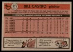 1981 Topps #271  Bill Castro  Back Thumbnail
