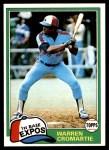 1981 Topps #345  Warren Cromartie  Front Thumbnail