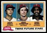 1981 Topps #328   -  Gary Ward  /  Dave Engle  /  Greg Johnson Twins Front Thumbnail