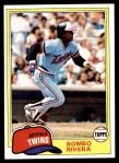 1981 Topps #256  Bombo Rivera  Front Thumbnail