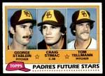 1981 Topps #356   -  Tom Tellmann / Craig Stimac / George Stabein Padres Front Thumbnail