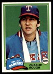 1981 Topps #371  Charlie Hough  Front Thumbnail
