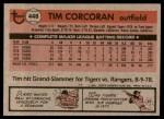 1981 Topps #448  Tim Corcoran  Back Thumbnail
